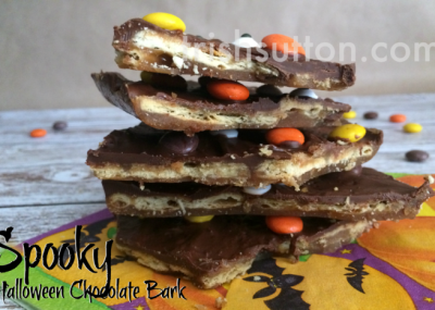 Spooky Halloween Chocolate Bark Recipe by TrishSutton.com