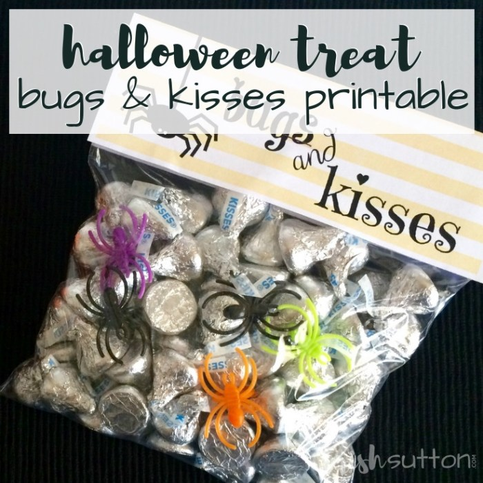 Halloween Treat Bugs & Kisses Free Printable by TrishSutton.com