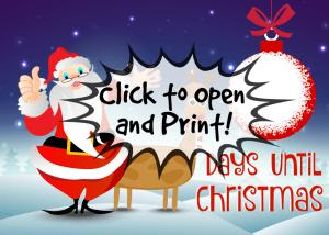 Christmas Countdown 5x7 by TrishSutton.com, Click to Print!