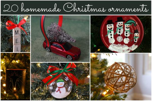 20 Homemade Christmas Tree Ornaments; Round-up by TrishSutton.com