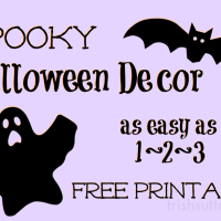 Spooky Halloween Decor; Free Printable