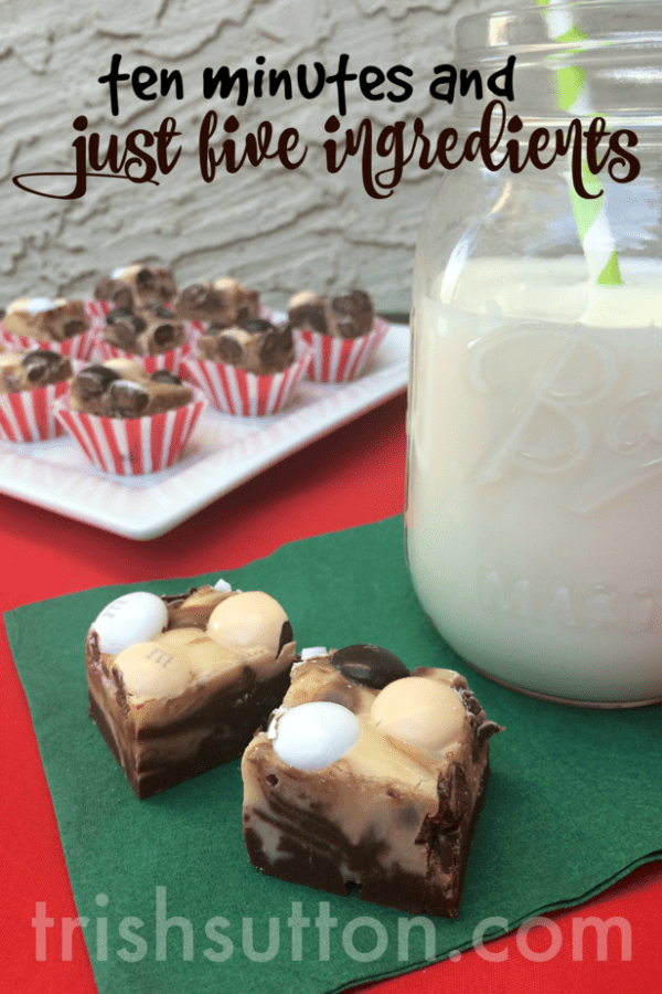 Ten Minute Hot Chocolate Fudge by TrishSutton.com, M&M's® Hot Chocolate