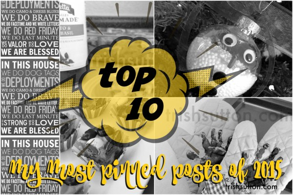 Most Pinned Posts Of 2015; Top 10 including recipes, fudge, handmade gifts, a Minion and more! TrishSutton.com