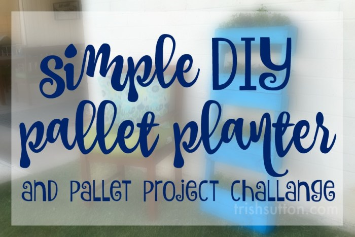 Simple DIY Pallet Planter; Upcycled Pallet Flower Garden by Trish Sutton