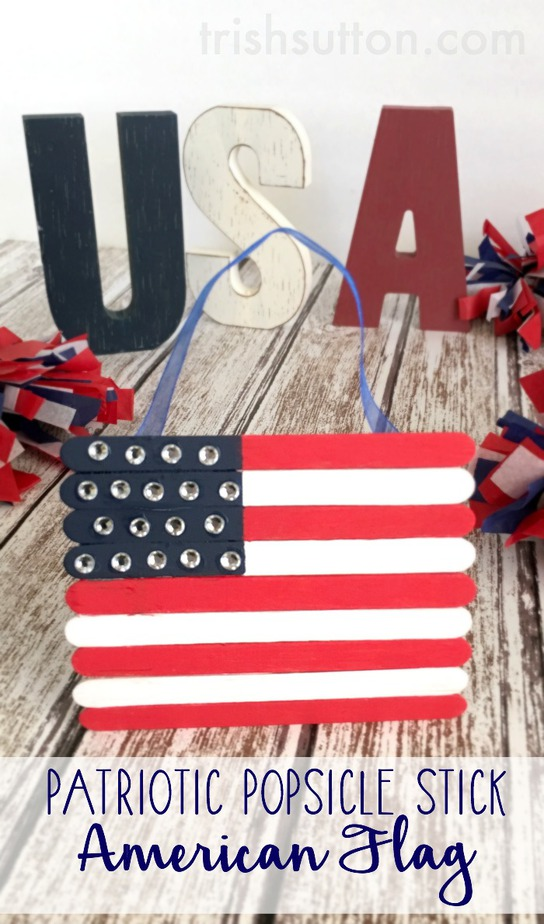 patriotic popsicle stick american flag