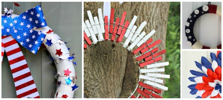30 Patriotic Red, White & Blue Crafts TrishSutton.com.