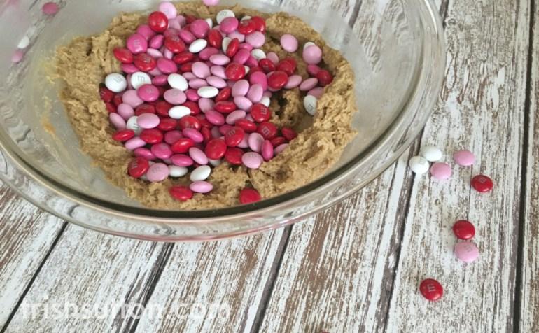 Valentine Heart Cookie Bars Recipe; TrishSutton.com