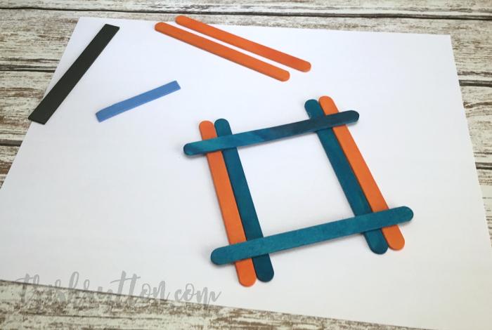 Magnetic Craft Stick Picture Frame; A fun popsicle stick craft for kids. TrishSutton.com