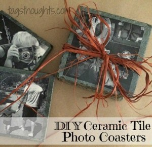 DIY Ceramic Tile Photo Coasters; Grandparent's Day, Mother's Day, Father's Day, Christmas, Birthdays. TrishSutton.com