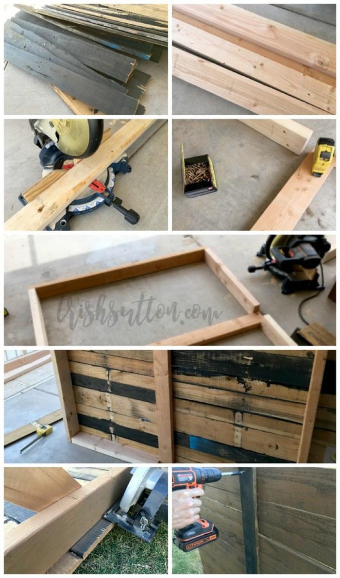 DIY Outdoor Wood Pallet Privacy Screen, TrishSutton.com