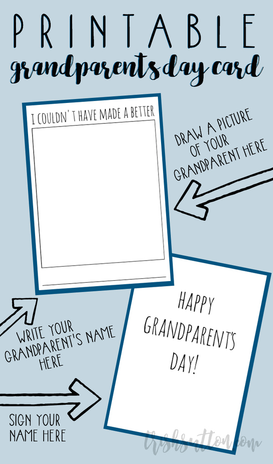 graphic regarding Printable Grandparents Day Card called Printable Grandparents Working day Card; I Couldnt Contain Intended A