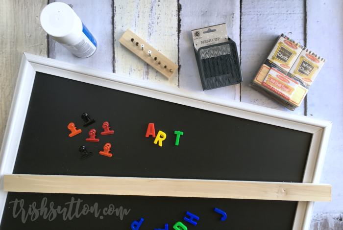 Magnetic Chalkboard Art Display, Gallery for Kid's Art by TrishSutton.com