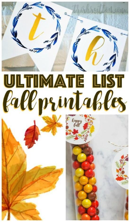 Ultimate List Of Fall Printables, TrishSutton.com
