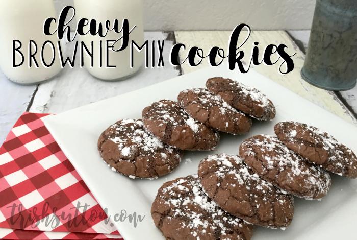 Chewy Brownie Mix Cookie Recipe by TrishSutton.com