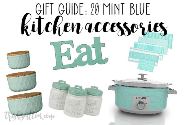 Mint Blue Kitchen Accessory Gift Guide 20 Teal