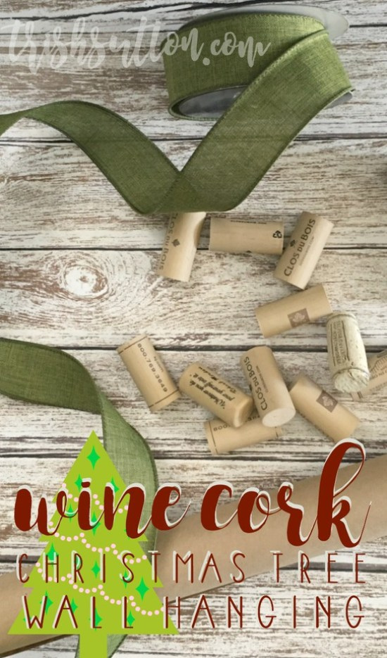 Wine Cork Christmas Tree Holiday Decor; Upcycled Wall Hanging. A simple creation for the holiday season. by Trish Sutton