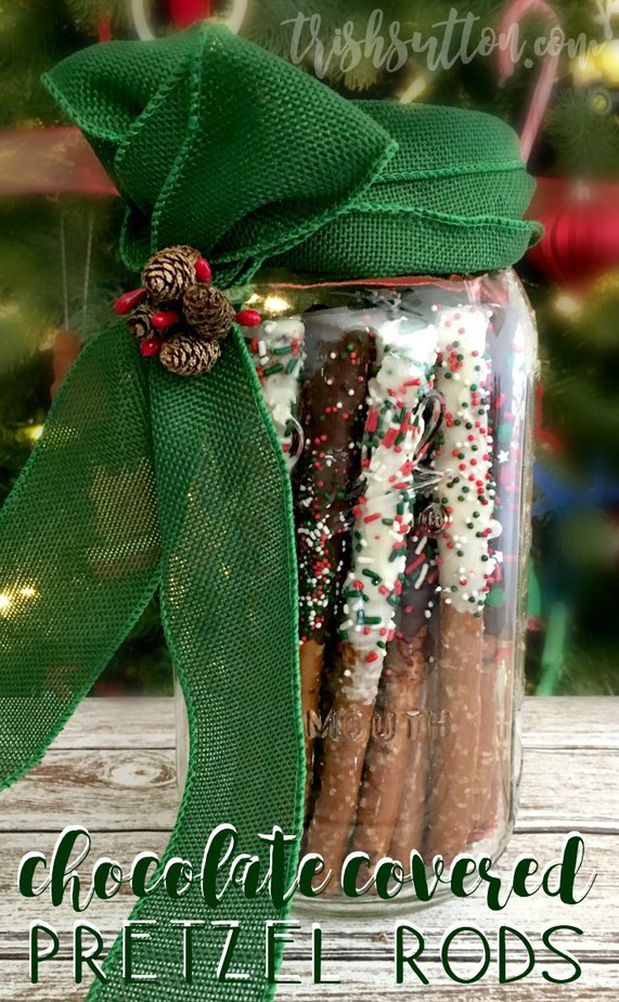 Simple DIY Chocolate Covered Pretzel Rods, TrishSutton.com