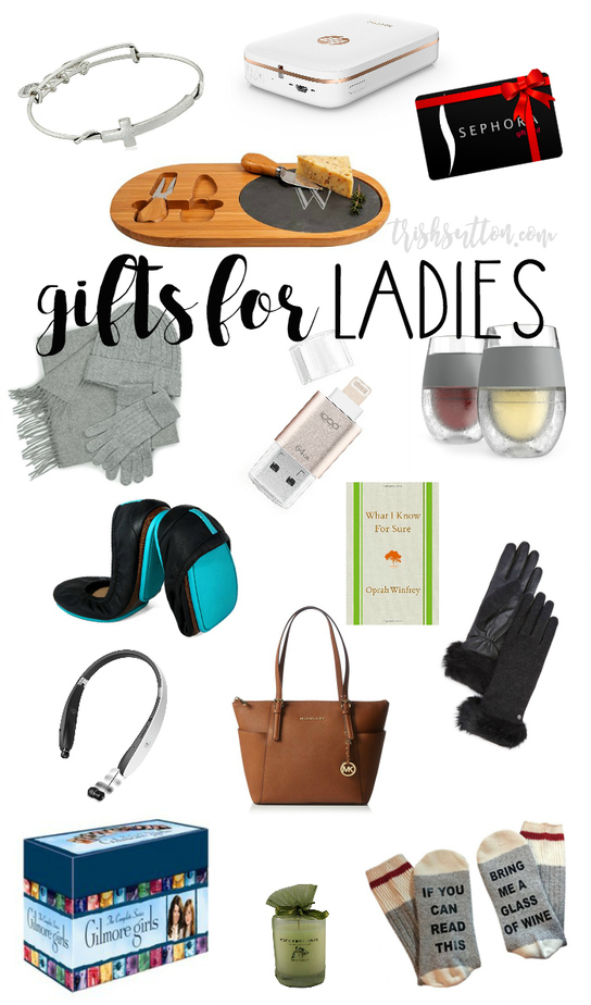 Gifts For Ladies; Christmas Gift Guide For Her. TrishSutton.com