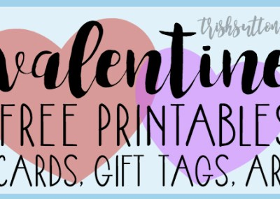 20 Valentine Free Printables Round-Up: Cards, Gift Tags, Art by TrishSutton.com