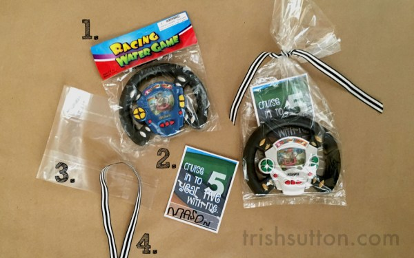 Drive, Race or Cruise Into The Next Year Birthday Party; Printables for ages 1 - 10. TrishSutton.com