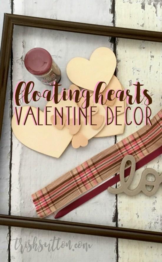 Floating Hearts Valentine Decor | TrishSutton.com