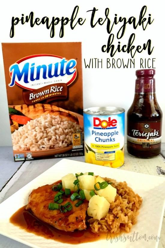 Pineapple Teriyaki Chicken With Brown Rice Crock Pot Recipe | TrishSutton.com