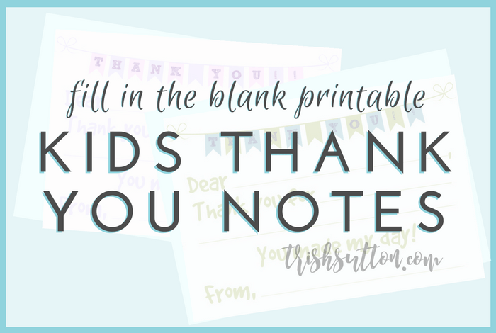 photo relating to Fill in the Blank Thank You Cards Printable known as Fill Within just The Blank Printable Children Thank Oneself Notes 2 Shade
