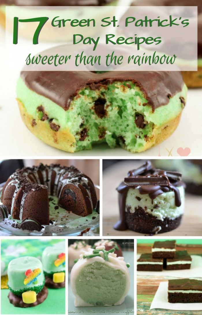 Forget the corned beef, cabbage and green beer. Bring on the green desserts! 17 Green St. Patrick's Day Recipes Sweeter Than The Rainbow