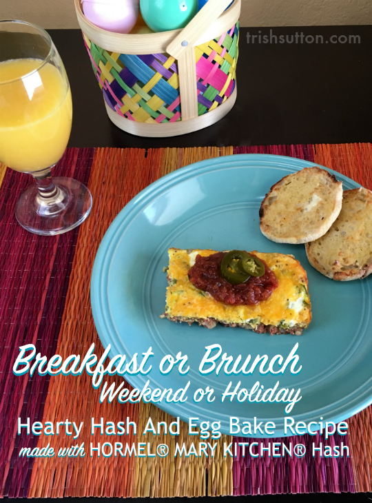 Breakfast Or Brunch Hearty Hash And Egg Bake Recipe #HowDoYouHash TrishSutton