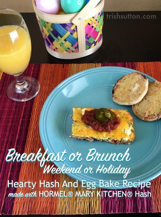 Breakfast Or Brunch Hearty Hash And Egg Bake Recipe #HowDoYouHash TrishSutton