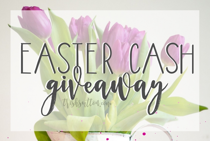 Celebrate April! Celebrate Spring! Celebrate Easter Cash Giveaway! Ends 04.19.2017, winner chooses PayPal cash or Visa gift card. TrishSutton.com