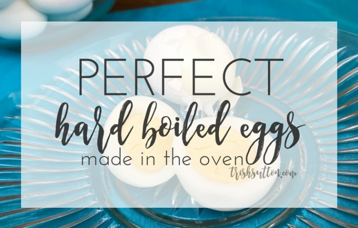 Perfect Hard Boiled Eggs {Simple How to Make Eggs in the Oven} TrishSutton.com