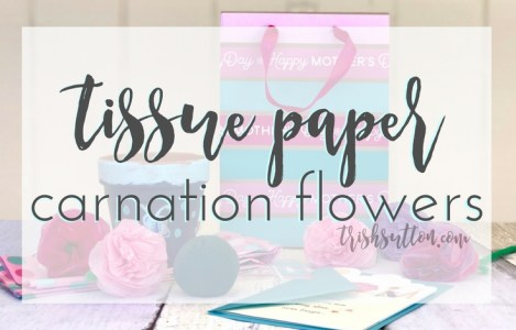 Tissue Paper Carnation Flowers; Make Her Mother's Day, TrishSutton.com
