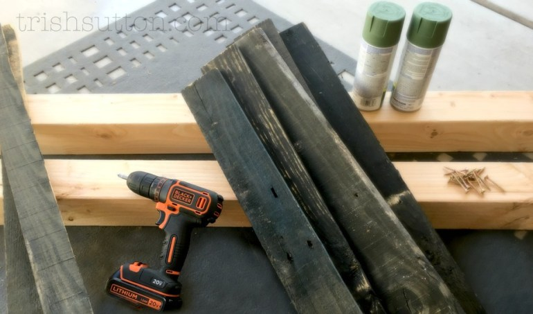 DIY Wood Pallet Table; BLACK+DECKER Drill And Circular Saw Giveaway. TrishSutton.com