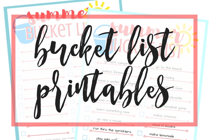 Summer Bucket List; Free Printable for Summertime by TrishSutton.com