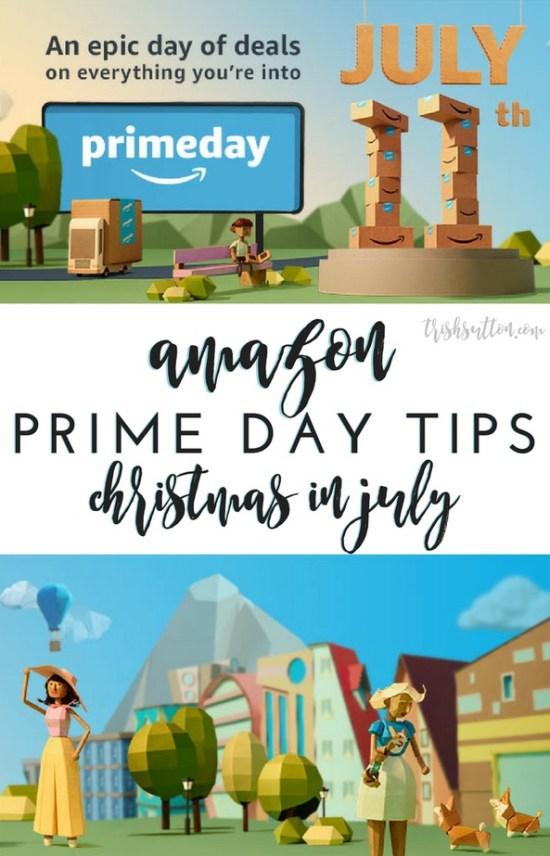 Amazon Prime Day Tips Christmas in July, TrishSutton.com