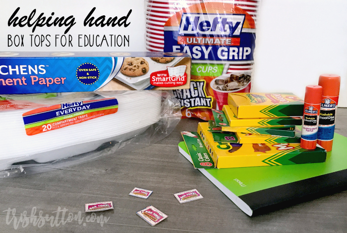 Now through August 29 you can enter to win daily instant prizes and the grand prize of $1,000 worth of Box Tops for your school. Helping Hand Sweepstakes. TrishSutton.com #BTFE #ReynoldsKitchens #Hefty #ad