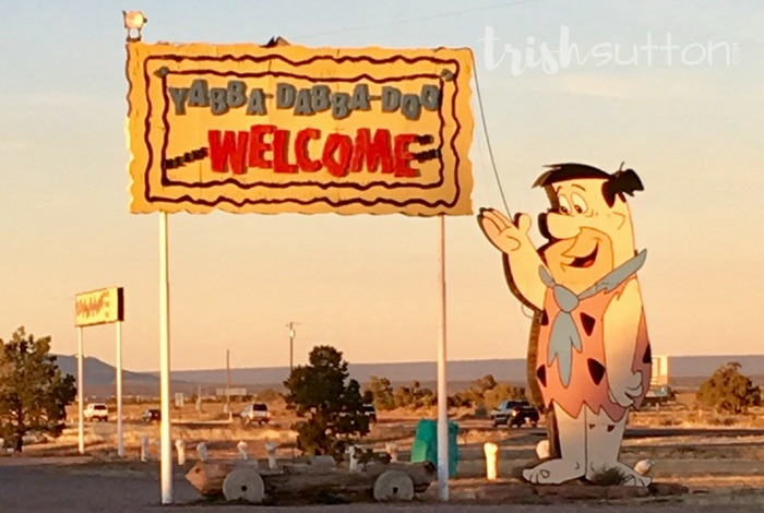 Flintstone's Bedrock City in Northern Arizona is the real deal. There is even a bronto-crane slide. TrishSutton.com