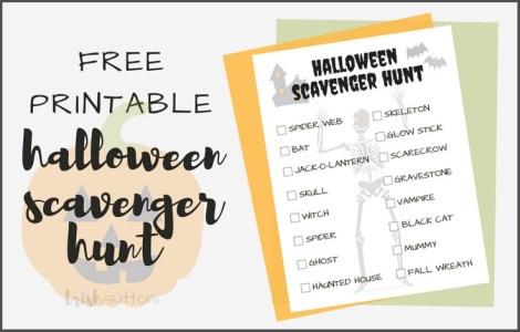 Halloween Scavenger Hunt Free Printable; TrishSutton.com