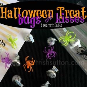 Halloween Treat Bugs & Kisses Printable; TrishSutton.com