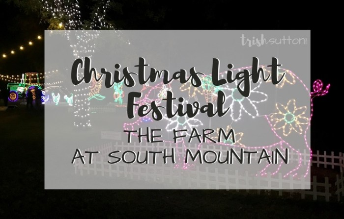 Train rides, hot cocoa, cookie decorating, Santa and, of course, lights. The Christmas Light Festival at The Farm in south Phoenix is all that & more.