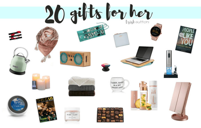 Gift Guide for Her | 20 Gift Ideas for Ladies
