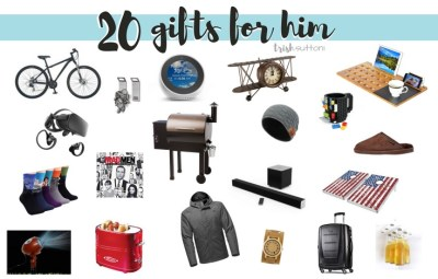 20 gift ideas for guys; This Gift Guide for Him ranges from $14 - $700 and includes 8 gifts under $40 for Husbands, Dads, Brothers & Friends.