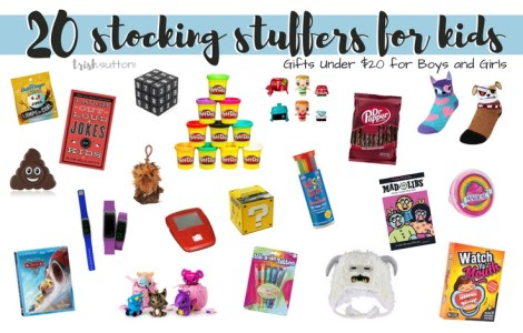 Kids Stocking Stuffers; 20 Gifts Under $20 for Boys and Girls, TrishSutton.com