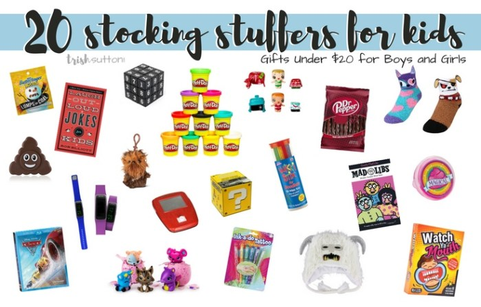Kid Stocking Stuffers Gifts Under 20 For Boys And Girls