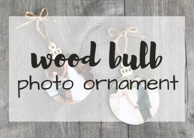 Preserve favorite memories, create personalized gift tags or share a handmade gift with DIY Wood Bulb Photo Ornaments. Handmade gift from memories.