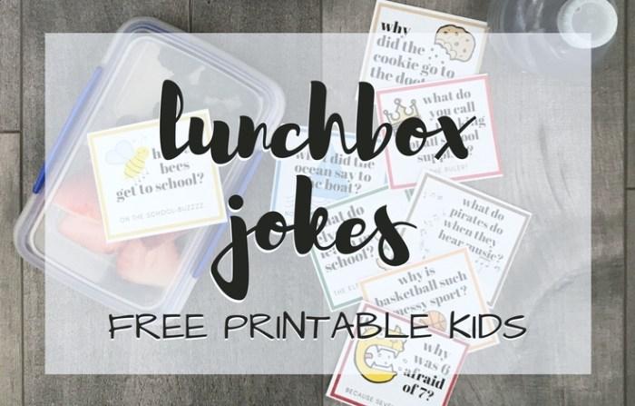 Kids Jokes Silly Lunchbox Jokes Printable for Kids; trishsutton.com