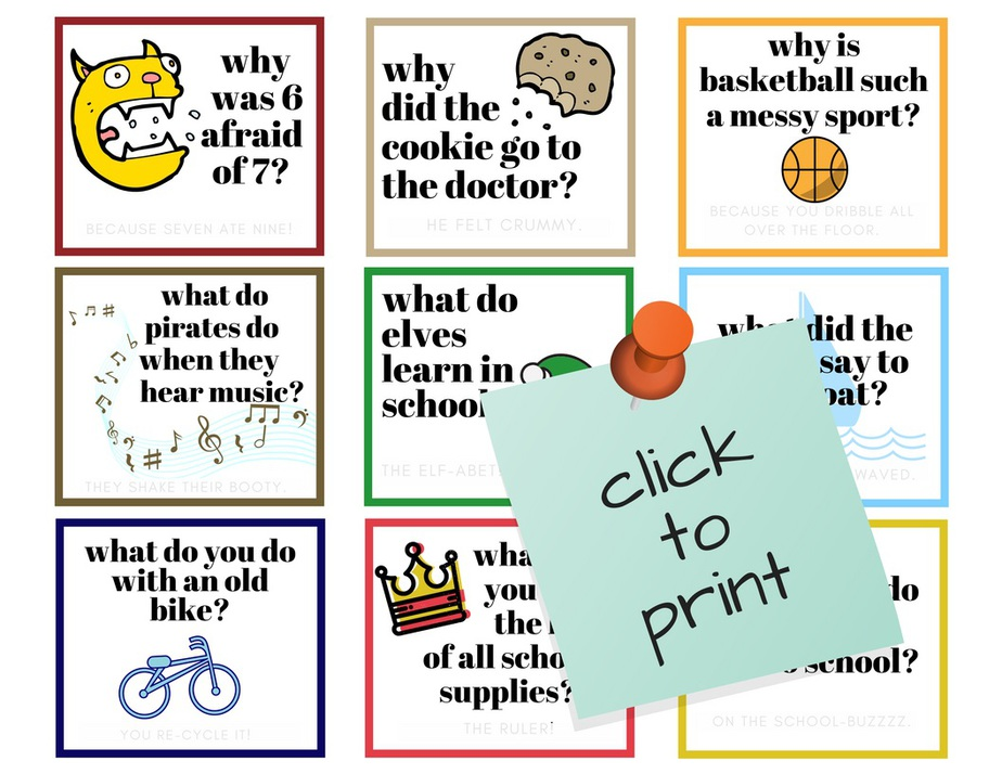 photo about Printable Lunchbox Jokes known as Small children Jokes Foolish Lunchbox Jokes Printable for Small children