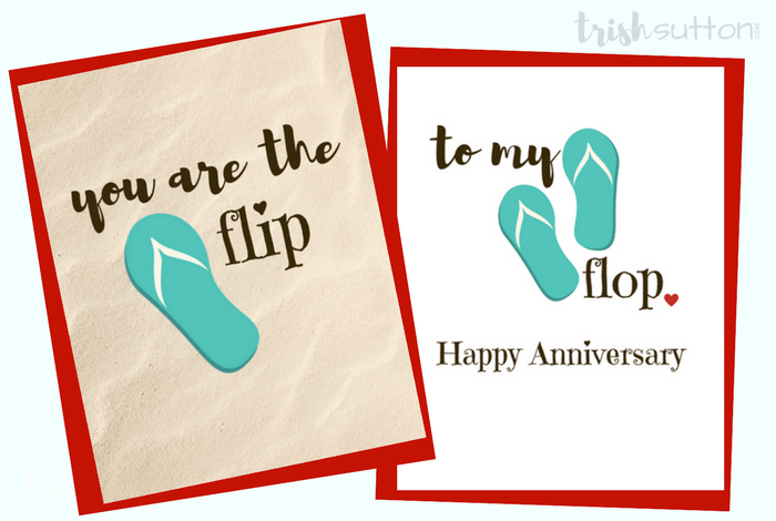 Flip Flop Greeting Cards Three Free Printables To Show Love