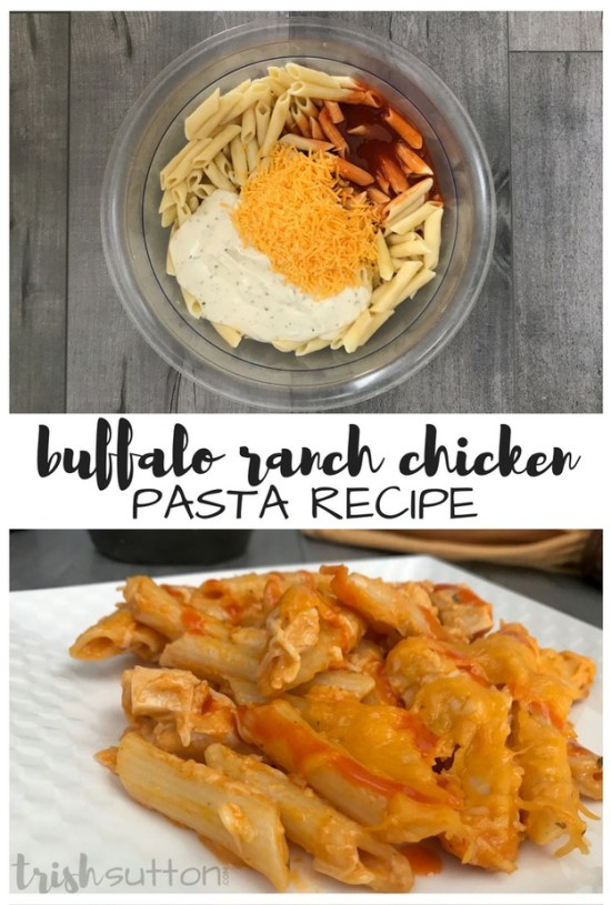 Recipe: Buffalo Chicken Pasta Recipe | Family Meal, TrishSutton.com
